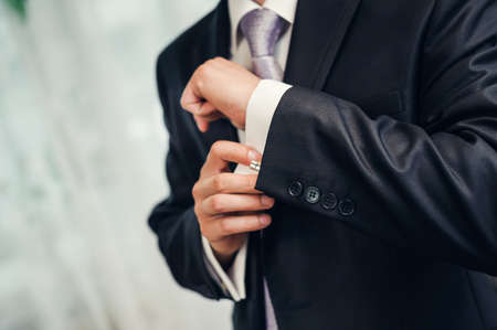 suit  cuff: Man Stock Photo