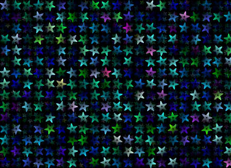 chaotical: many multicolored stars background  holiday symbol