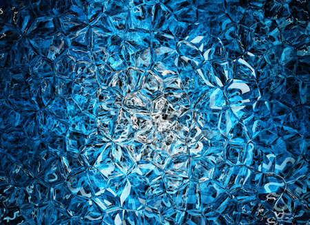 blue colored relief crystal backgrounds Stock Photo
