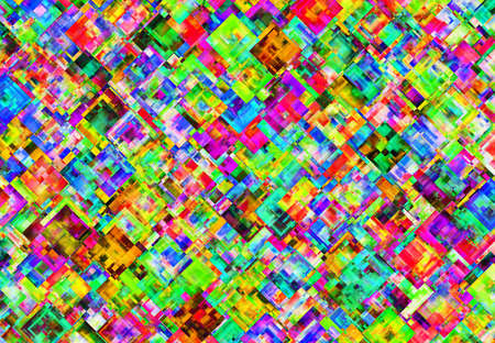 chaotical: Abstract Pattern from Multicolored Square
