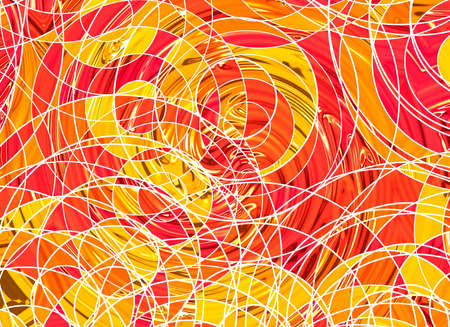 labyrinthine: many abstract curled lines on a white backgrounds