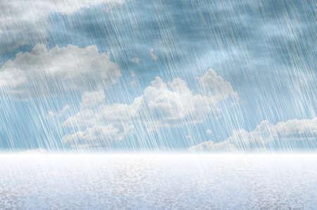 曇りの天候雨嵐背景