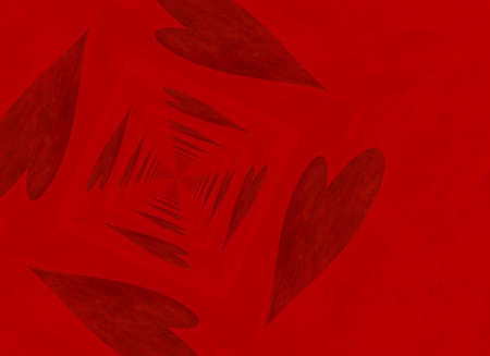 vanishing point: vanishing point perspective of red heart backgrounds