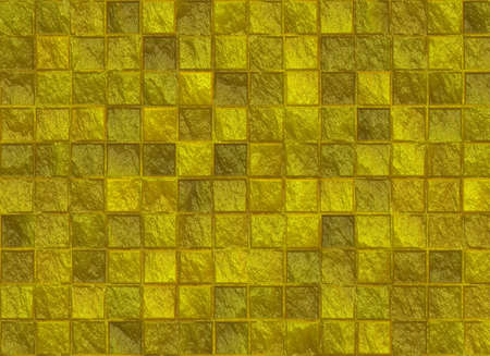 seams: many square golden tile pattern texture Stock Photo