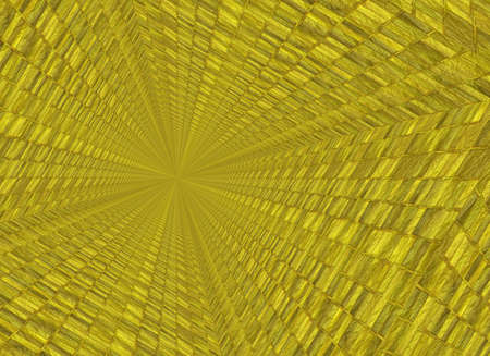 perversion: vanishing point perspective of gold bar backgrounds Stock Photo