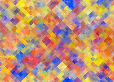 chaotic: Multicolored square Shapes in Chaotic Arrangement. Holiday bokeh backgrounds