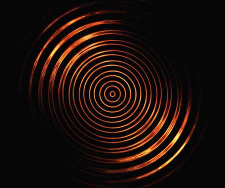 黒の背景に火災対称円