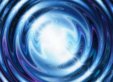 irradiate: white flash on a blue waves backgrounds Stock Photo