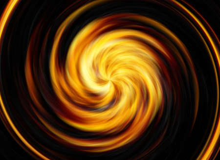irradiate: twirl motion of bright explosion flash on black backgrounds Stock Photo