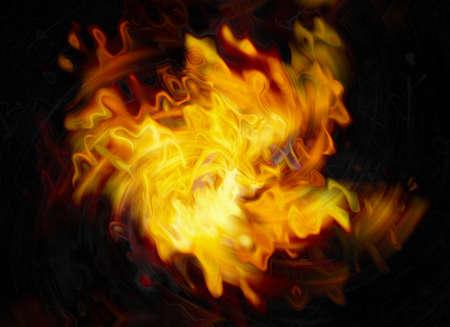 twirl of bright explosion flash on black backgrounds. fire burst photo