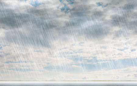 rain storm backgrounds in cloudy weather Standard-Bild