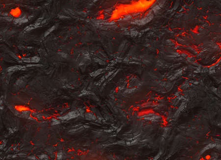 solidified hot lava texture of eruption volcano Stock Photo