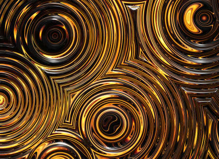 abstract pattern of golden wet symmetrical ripple circles photo