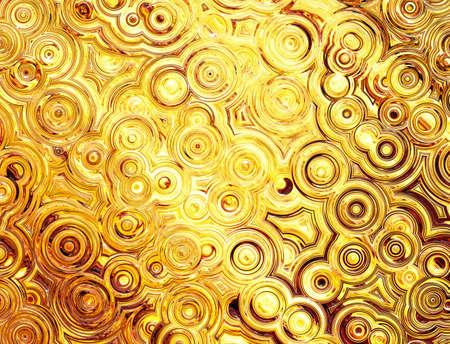 黄金の対称リップル円の抽象的なパターン