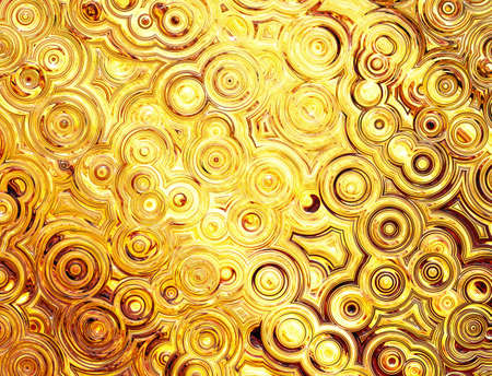 abstract pattern of golden symmetrical ripple circles