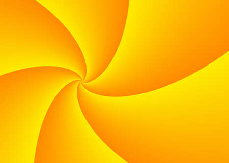 turn away: diminishing perspective of wide yellow curled rays with copy space