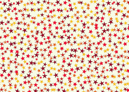 chaotical: many multicolored stars background. holiday man symbol Stock Photo