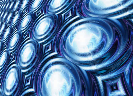 irradiate: white flash on a blue waves ripple backgrounds Stock Photo