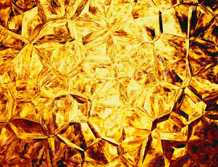 uncouth: golden colored relief crystal fire backgrounds Stock Photo