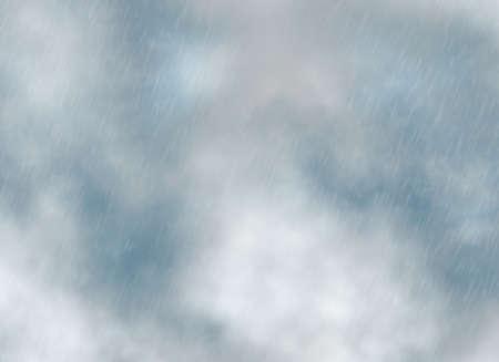 cloudburst: rain storm backgrounds in cloudy weather Stock Photo