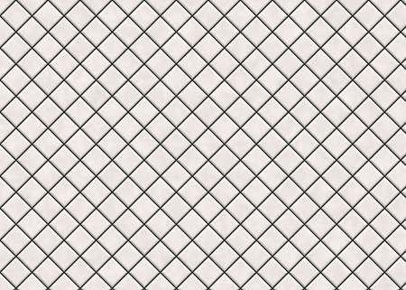 many matt light square ceramic tile. pattern texture Stock Photo