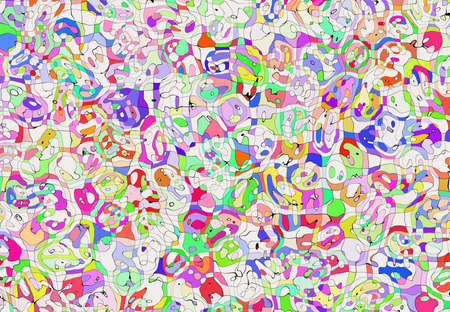 abstract multicolored painted mosaic patchwork backgrounds photo