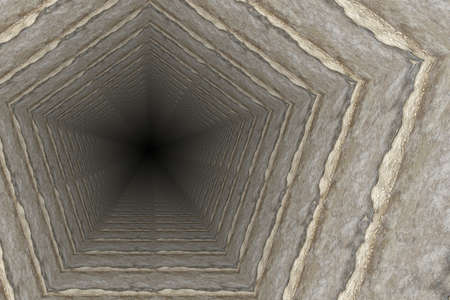crossbar: way of deep hole in a coal mine