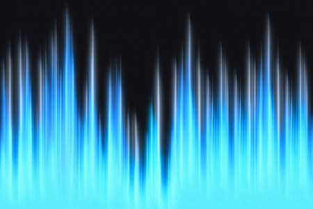 emanation: waveform blue lights with copy space Stock Photo