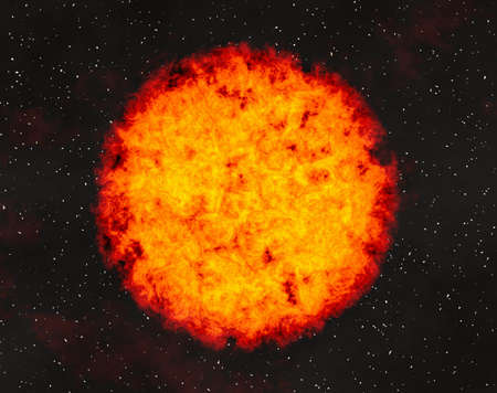 irradiate: hot fire planet on space stars backgrounds