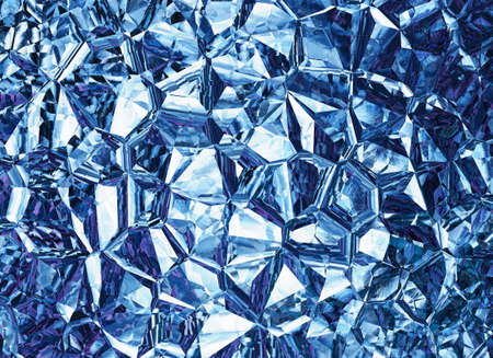 blue  backgrounds: blue colored relief crystal backgrounds Stock Photo