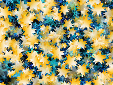 stelle blu: many flying gold and blue stars backgrounds
