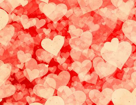 愛のシンボルの赤いハートの背景