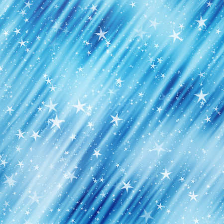 star: many flying stars on a dreamy backgrounds