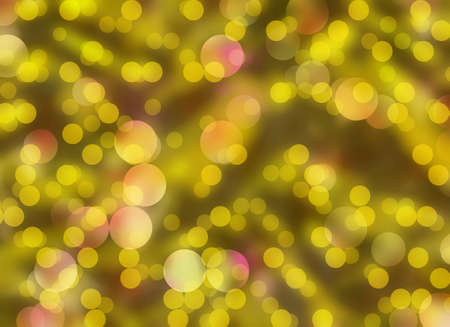 chaotic: Gold Round Shapes in Chaotic Arrangement. Bokeh backgrounds