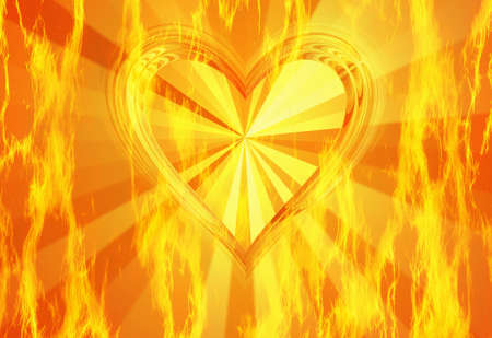 conflagration: red flame fire texture with hot heart backgrounds