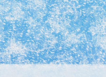 動きと大きな降雪背景をぼかし。白い雪の地面 写真素材