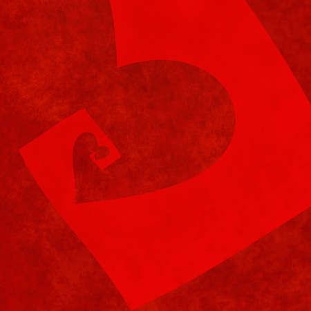 vanishing: vanishing perspective of big textured red heart