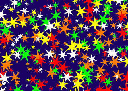 holiday symbol: molte stelle multicolori sfondi. simbolo di vacanza