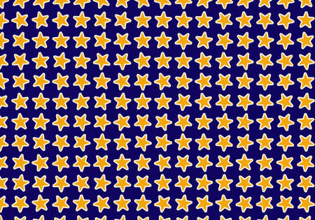 chaotical: many yellow stars on blue backgrounds. holiday symbol Stock Photo