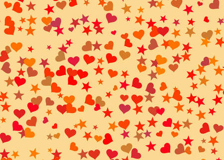 hearts and stars backgrounds. Holiday symbol photo