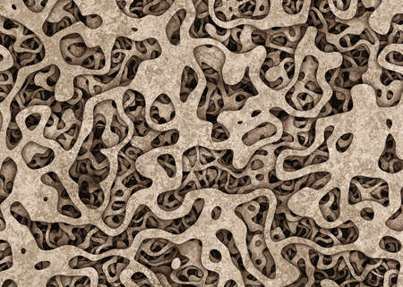 cuttings: heap of surreal curled cuttings object backgrounds. Abstract pattern