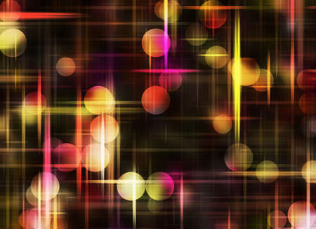sparkled: Multicolored Round Shapes in Chaotic Arrangement. Bokeh backgrounds Stock Photo