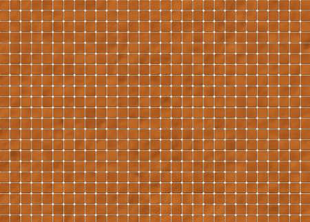 ceramic tile: many square brown ceramic tile. pattern texture Stock Photo