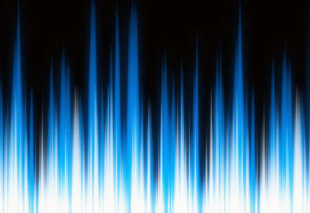 oscillograph: waveform blue lights with copy space Stock Photo