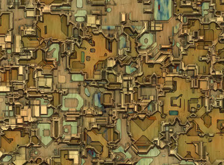 futuristic city: futuristic industrial city abstract backgrounds Stock Photo