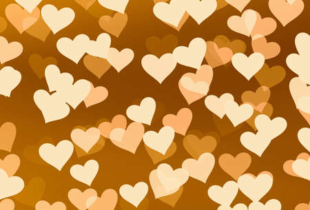 friendliness: flying hearts on brown backgrounds. Love symbol Stock Photo