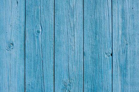 青い木製フェンスの背景パターン