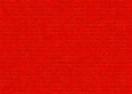 saturated: hi-res saturated red small brick wall pattern