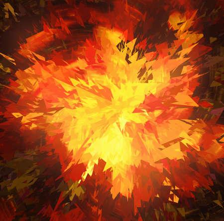 fondos negros: explosi�n de la estrella rota en fondos negros
