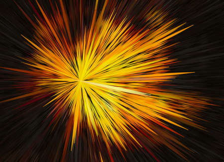 bright explosion fire speed burst backgrounds in space Stock Photo